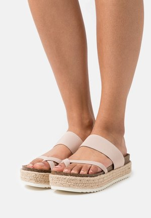 CASE - T-bar sandals - nude