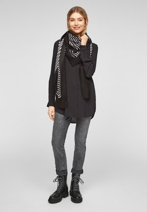 MIT STATEMENT-PRINT - Scarf - black stripes