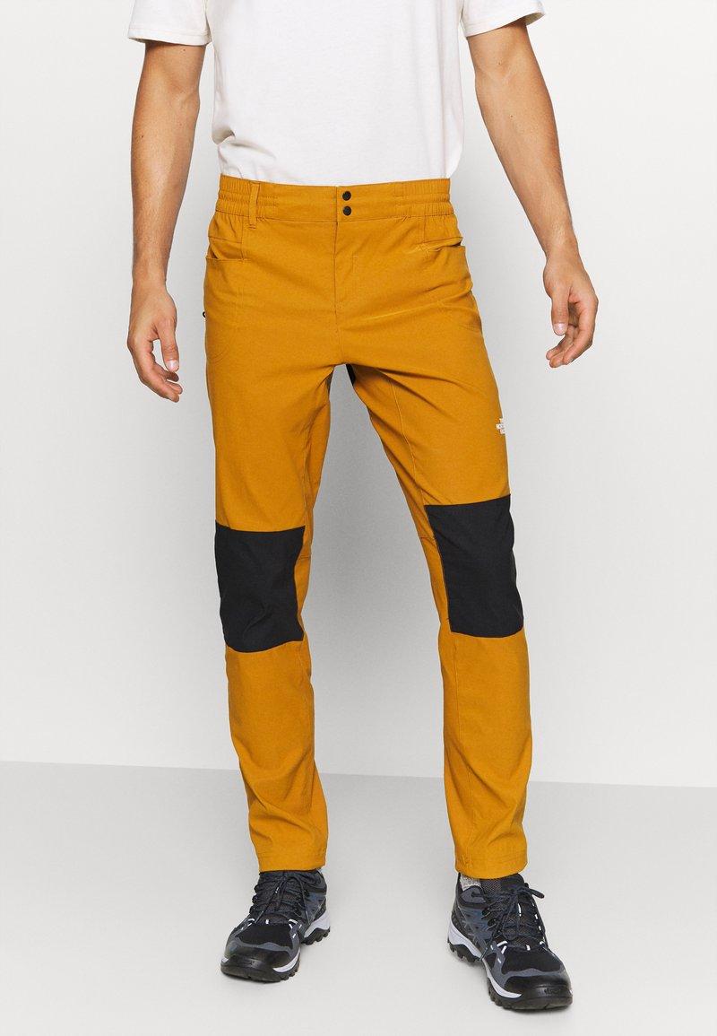 The North Face - MEN'S CLIMB PANT - Trousers - timbertan/black