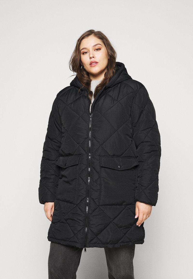 Noisy May Curve - NMFALCON LONG JACKET - Winter jacket - black