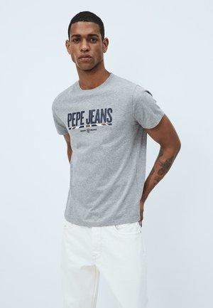 Print T-shirt - gris marl