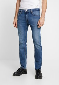 Lee - DAREN ZIP FLY - Jeansy Straight Leg - blue used - 0