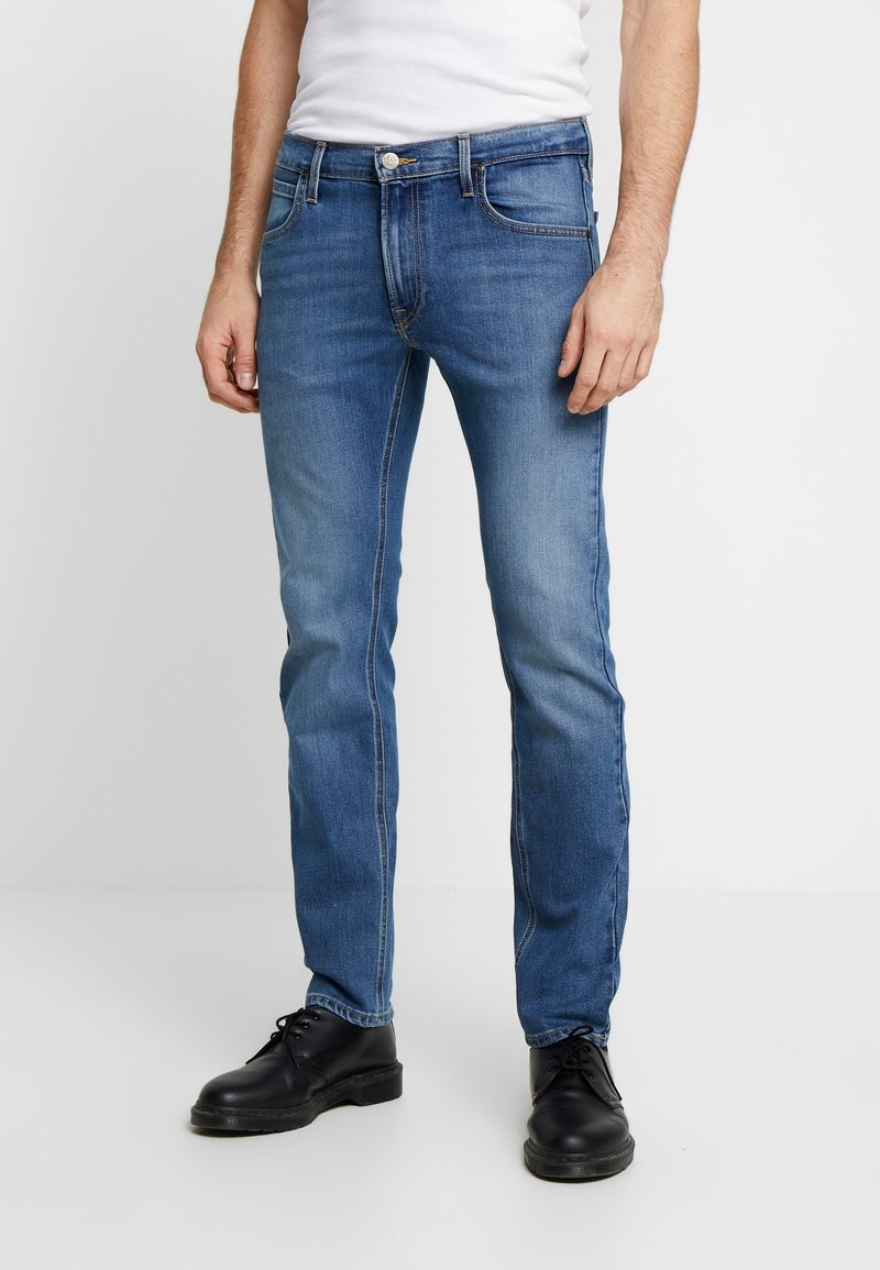 Lee - DAREN ZIP FLY - Jeansy Straight Leg - blue used