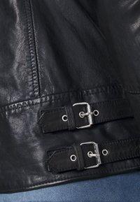 Goosecraft - MADRID BIKER - Leather jacket - black - 6