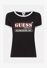 Guess - Print T-shirt - schwarz - 4