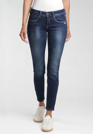 Jeans Skinny Fit - dark indigo used