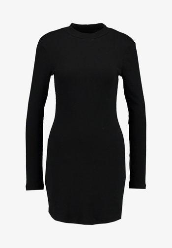BASIC - Vestito di maglina - black