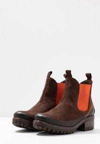 Lazamani - Ankle Boot - brown/orange - 4