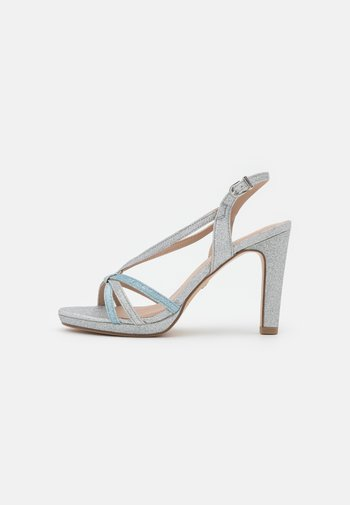 Sandals - silver glitter