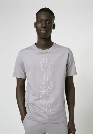 DARLON - Print T-shirt - silver
