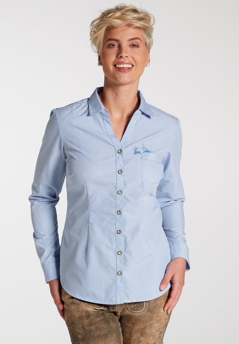Spieth & Wensky - Button-down blouse - hellblau