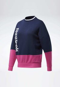 Reebok - TRAINING ESSENTIALS LOGO CREW SWEATSHIRT - Sweatshirt - blue - 8