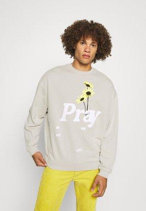 NOT LOST UNISEX - Zip-up sweatshirt - acid wash grey