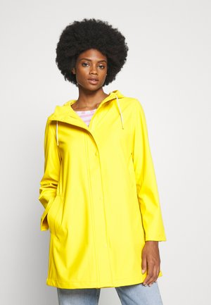 RECYCLED RAINCOAT - Vodotěsná bunda - bold yellow