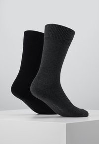Levi's® - CUSHIONED REGULAR CUT 2PACK - Socks - anthracite melange/black - 3