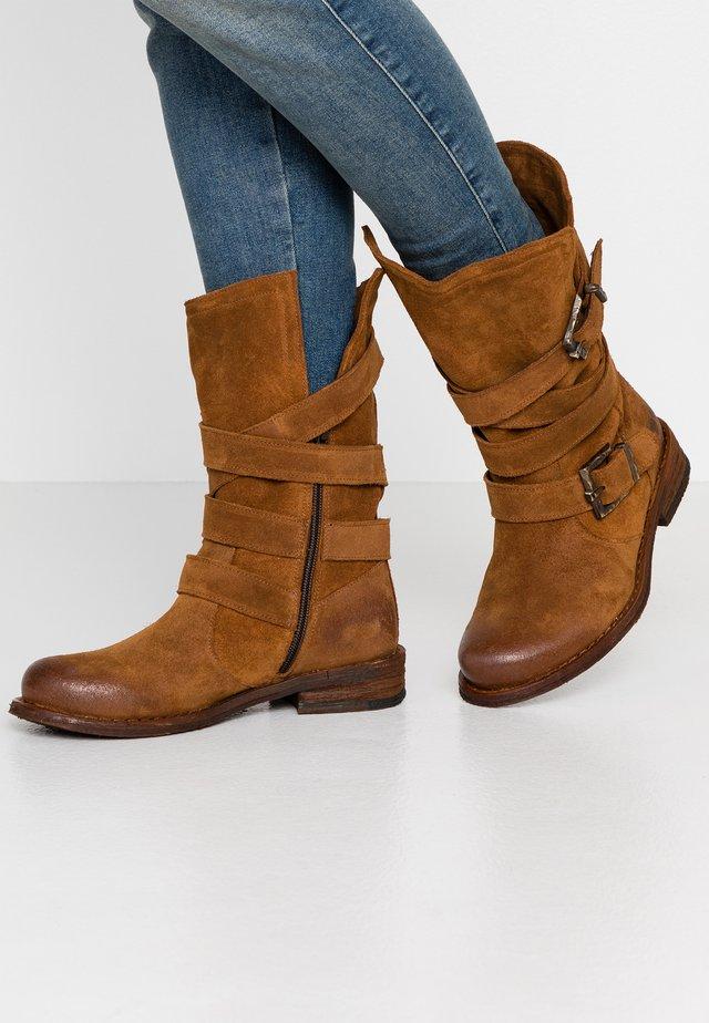 GREDO - Cowboy/Biker boots - cognac