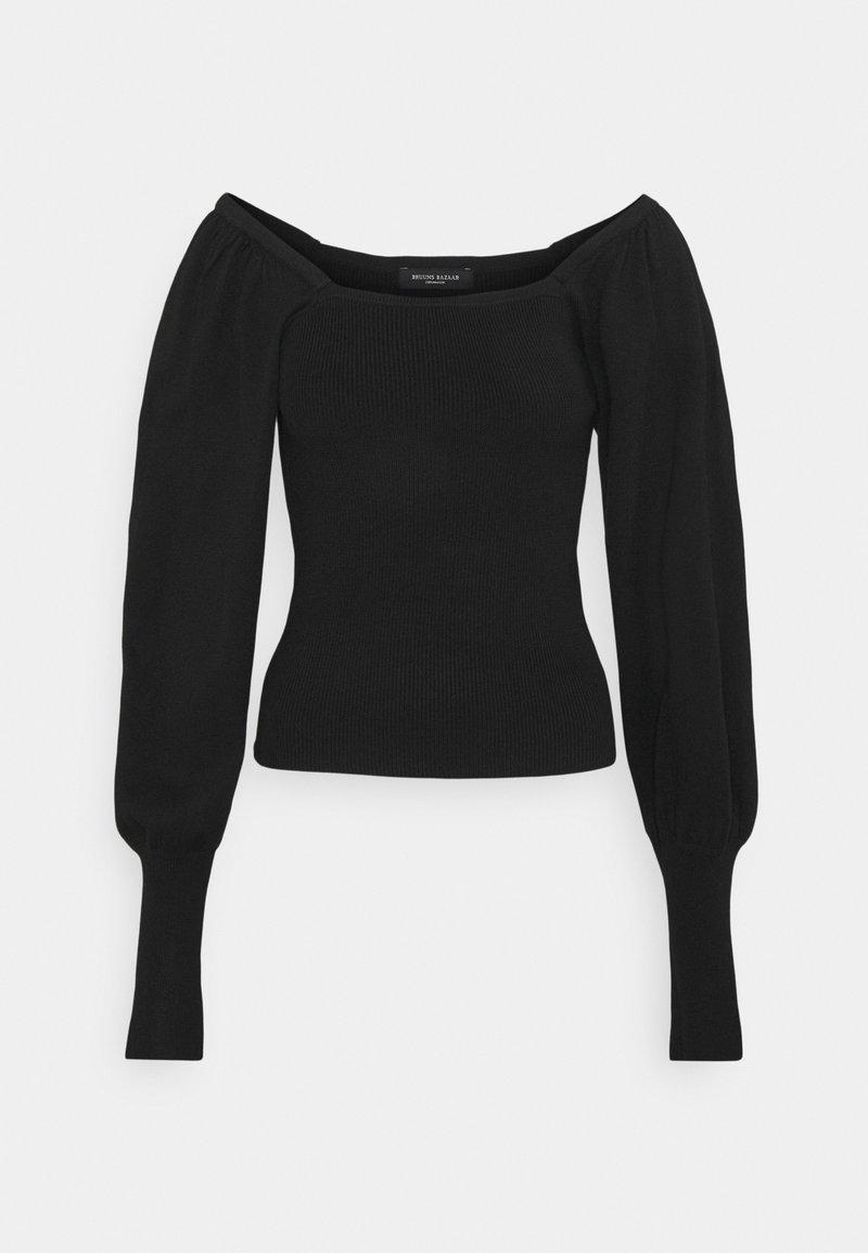 Bruuns Bazaar - BARBERRY ELIE - Svetr - black