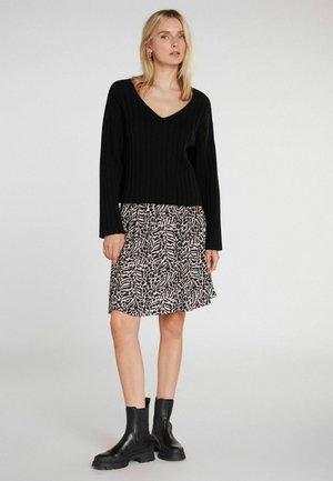 A-line skirt - black off white