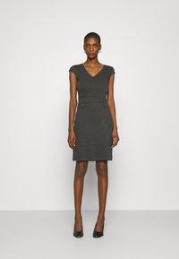 Anna Field - Žerzejové šaty - dark grey melange - 0