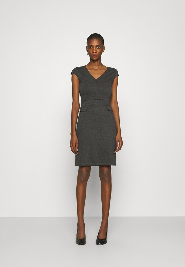 Jersey dress - dark grey melange