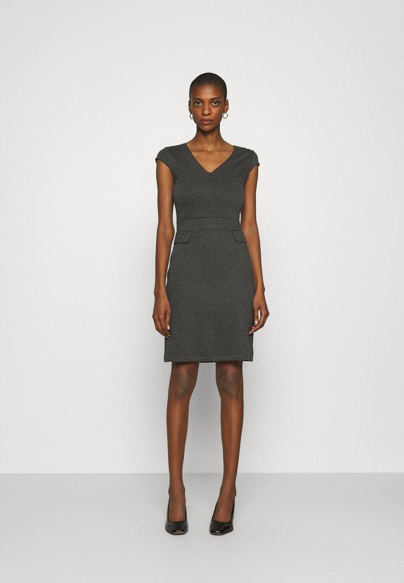 Anna Field - Žerzejové šaty - dark grey melange