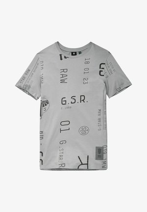 GRAPHICS AO SLIM - T-shirt print - charcoal extreme