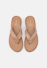 Anna Field - LEATHER - T-bar sandals - beige - 5
