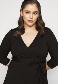 Dorothy Perkins Curve - WRAP DRESS - Day dress - black - 3