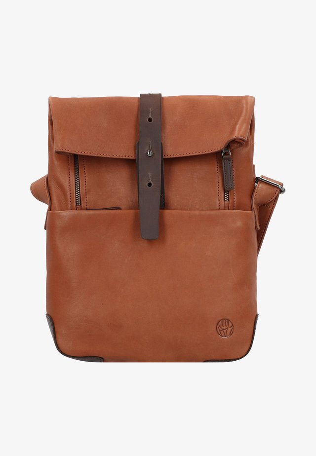 MOUNT  - Across body bag - cognac/brown