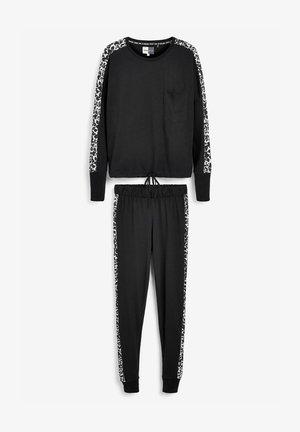 ANIMAL SIDE STRIPE - Pyjama set - black