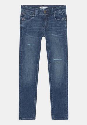 NKMTHEO - Slim fit jeans - dark blue denim