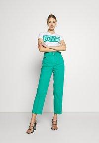 Versace Jeans Couture - LADY TROUSER - Džíny Straight Fit - pure mint - 1