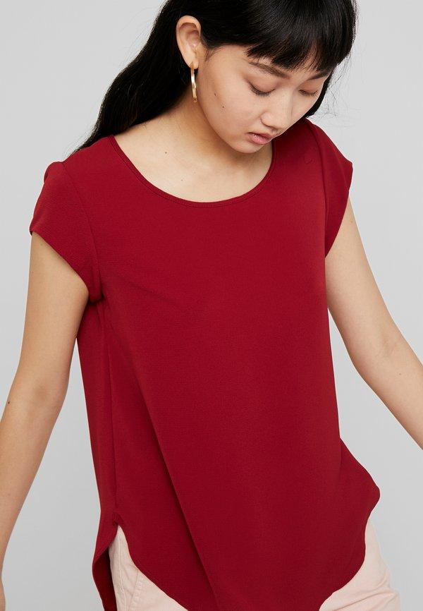 ONLY ONLVIC SOLID - T-shirt z nadrukiem - merlot/ciemnoczerwony YAGA