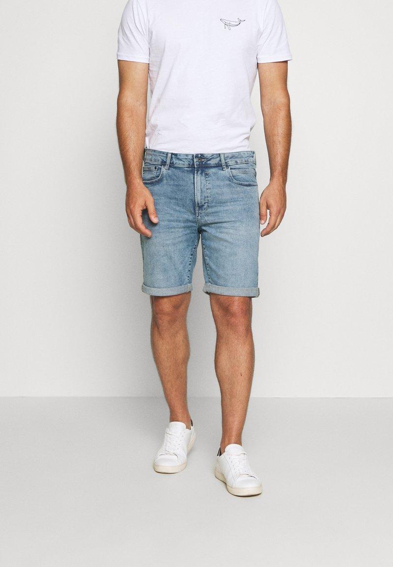 Solid - RYDER BLUE 259  - Denim shorts - blue denim