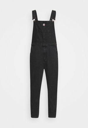 RETRO WASHED DUNGAREE - Latzhose - black
