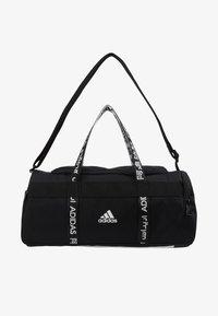 4ATHLTS ESSENTIALS 3STRIPES SPORT DUFFEL BAG - Sports bag - black/white