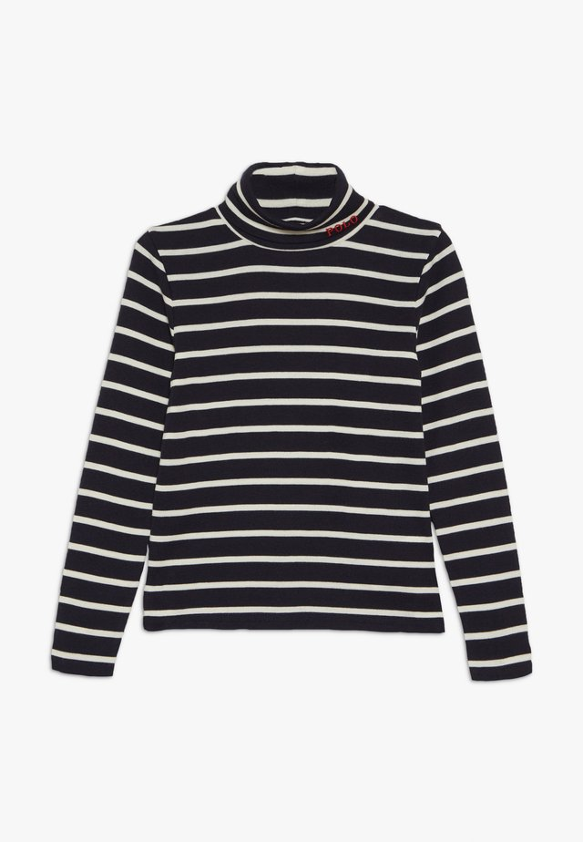 TURT - Long sleeved top - hunter navy/clubhouse cream