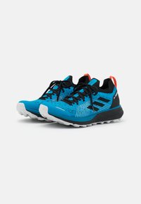 adidas Performance - TERREX TWO PARLEY - Trail running shoes - shadow blue/core black/true orange - 1
