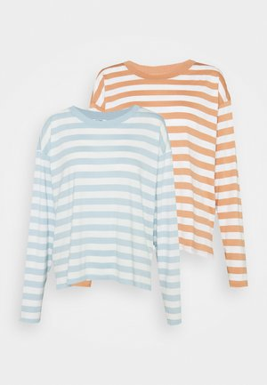 MAJA 2 PACK - Long sleeved top - blue light/rost