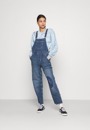 RIP AND REPAIR DUNGAREE - Dungarees - dark vintage