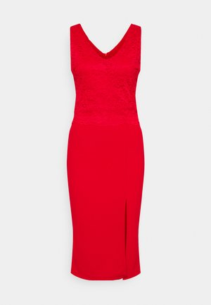 BRINLEY MIDI DRESS - Jerseyklänning - red