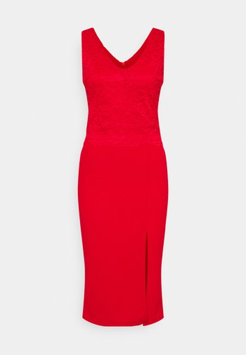 BRINLEY MIDI DRESS - Jersey dress - red