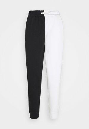 COLOUR BLOCK  - Teplákové kalhoty - black