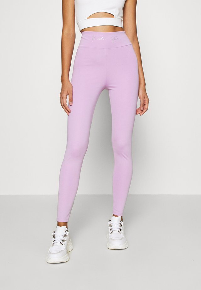 HIGH WAIST LOGOTIGHTS - Leggings - lilac