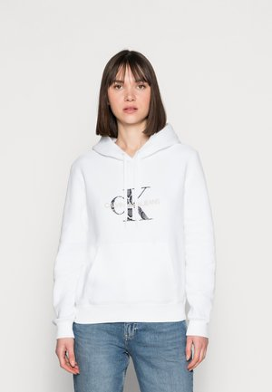 REPTILE MONOGRAM HOODIE - Felpa - white