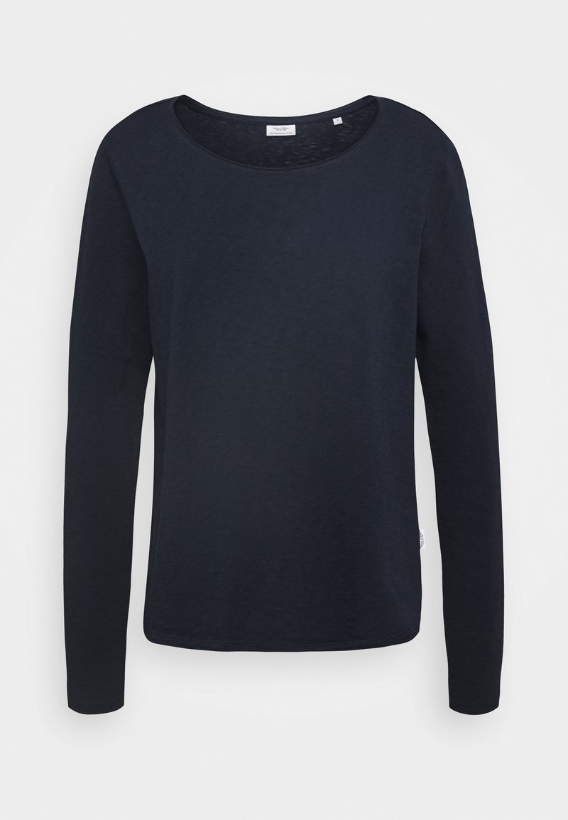 Marc O'Polo DENIM - LONG SLEEVE CREW NECK REGULAR FIT - Long sleeved top - scandinavian blue