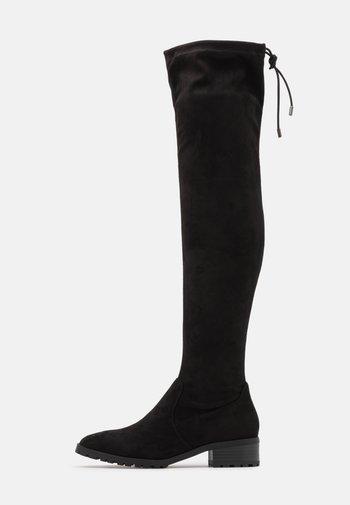 BASIC PROFILE SOLE  - Overknee laarzen - black