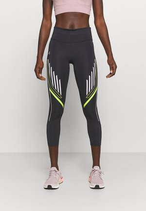 QUALIFIER GRAPHIC CROP - Legging - blackout purple