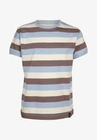 Elkline - Print T-shirt - lightblue-brown - 0