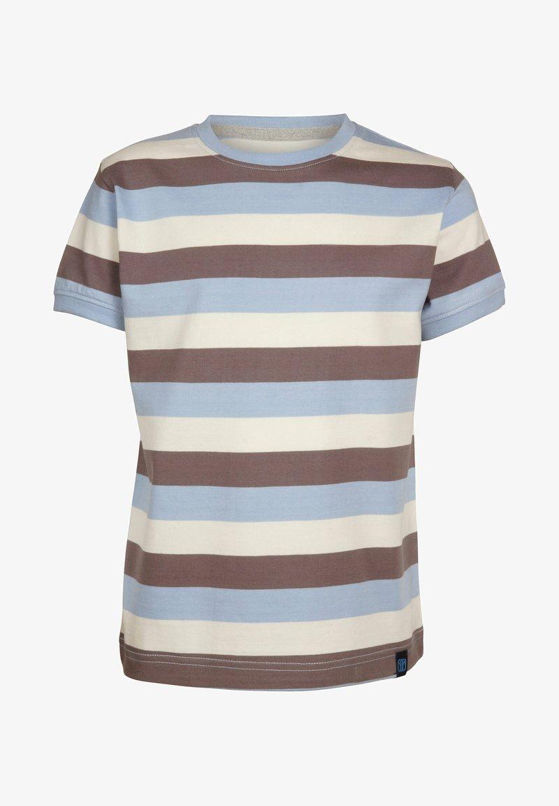 Elkline - Print T-shirt - lightblue-brown
